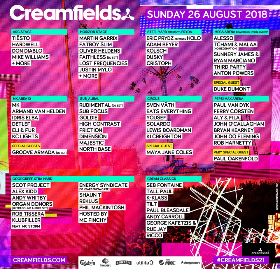 Creamfields 2018 Lineup: See The Full Roster From The UK