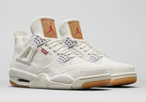 timeless design 88f9b 6df21 Levi's x Air Jordan 4 Releasing In Black And White Colorways ...