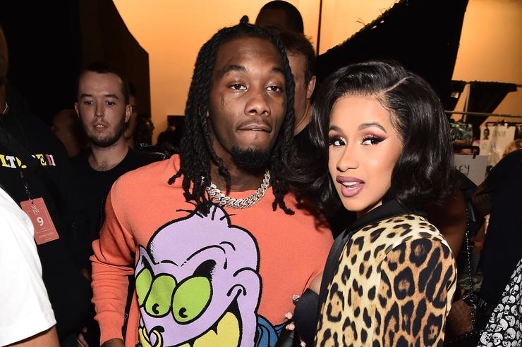 Offset Joined By Cardi B J Cole Travis Scott At Father Of Four